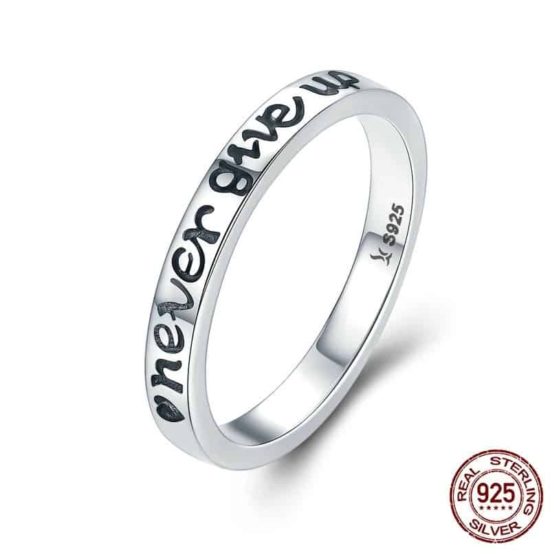 Gift Ideas To Motivate: Silver Band Ring Women's Jewelry